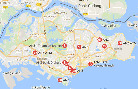 ANZ Bank Singapore Branches