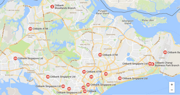 Citibank ATM Locations in Singapore