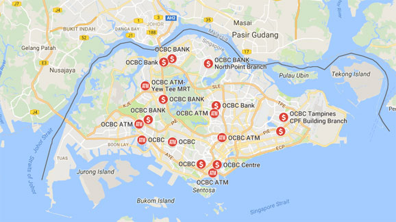 OCBC Branch Locations in Singapore